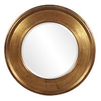 Shop Paris Framed Round Mirror in Gold Leaf - Free Shipping Today - Overstock - 20507704 - 23x23