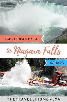 Niagara Falls has been one of the most popular tourist attractions in Canada since the century. From viewing the falls from above or below, having fun on ferris wheels or visiting nearby historic sites, here are the top 11 things to do in Niagara Fal Niagara Falls Boat, Visiting Niagara Falls, Toronto Canada, Quebec, Montreal, Vancouver, Stuff To Do, Things To Do, Cheap Things