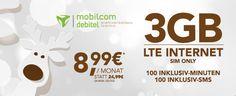 3GB LTE Handytarif mit 100 Freiminuten für 8,99€ http://www.simdealz.de/o2/mobilcom-debitel-smart-light/