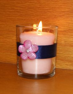 Navy Wedding / Wedding Votive Candle by CarolesWeddingWhimsy, This set of 6 Navy Blue and Pink Wedding Votive Candle Holders are the perfect Navy Blue and Pink Wedding Decoration for a Spring Wedding, Summer Wedding Decoration  or even Fall Wedding Decoration.  You can find them at  https://www.etsy.com/listing/280699486/navy-wedding-wedding-votive-candle