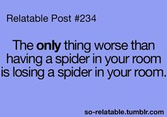 YESSS!! Once there was a bug in my room and I didn't get any sleep