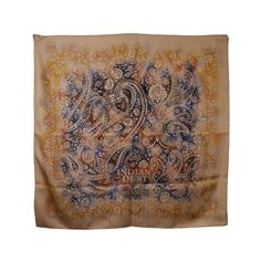 Gorgeous Hermes Indian Dust Scarf   From a collection of rare vintage scarves at https://www.1stdibs.com/fashion/accessories/scarves/