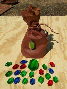 Zelda rupees and rupees bag homemade cosplay prop #DIY