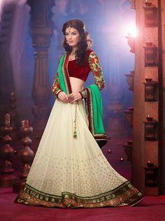 Elegant Bridal Lehenga for Sangeet or Reception | Saris and Things