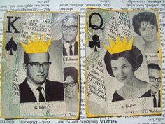 King & Queen Altered Playing Cards
