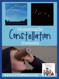 Homemade Constellation Viewers - A guide to the night sky. Approved by Andrea Beaty, author of Rosie Revere Engineer. #STEAM #STEM