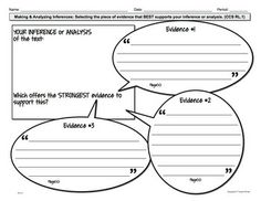 Reading Literature Graphic Organizers RL.1 Grades 6-8  Check out www.NYHomeschool.com as well.