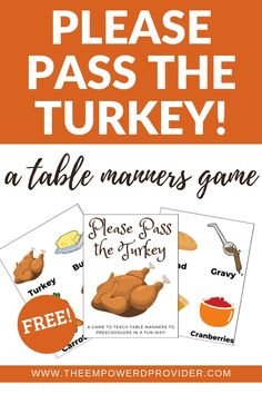 A Great Game to Teach Table Manners