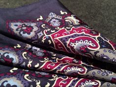 Patterned pocket square by Blaq.