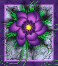 18March Purple Flower by Gerda1946