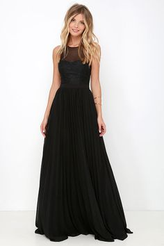 Your mission for the night will be to try not to blush as everyone compliments you on the I'm Flattered Black Embroidered Maxi Dress