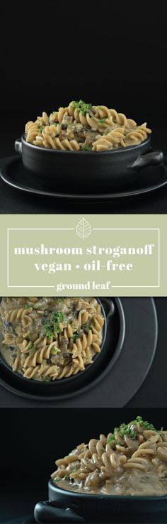 Vegan Oil Free Mushroom Strogranoff | This vegan mushroom stroganoff is savory, creamy, and a healthy twist on a family favorite. It's super easy to prepare and makes a delicious vegan meal for all to enjoy! mushroom stroganoff recipe, mushroom stroganoff vegan, mushroom stroganoff easy, vegan recipes #veganrecipeseasy