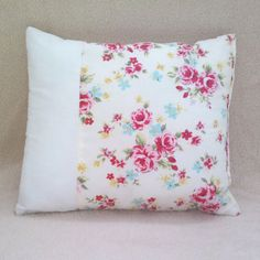 Roses and cream decorative cushion by Tinytoadcreations on Etsy