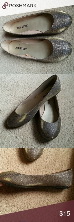 Selling this Lowr East Side Gold-Silver Sparkle Flats on Poshmark! My username is: kmac_6. #shopmycloset #poshmark #fashion #shopping #style #forsale #Lower East Side  #Shoes