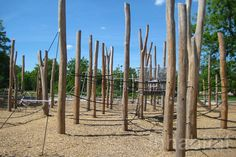 Gleisdreieck Park's Minimal Playground Is Built Simply from Wood, Ropes and Steel