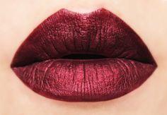 Bitten Metallic Dark Red Matte Liquid Lipstick by BeautyUndead
