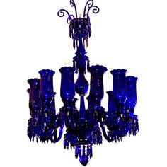 Monumental Cobalt Blue Chandelier Ordered by Sister Parish