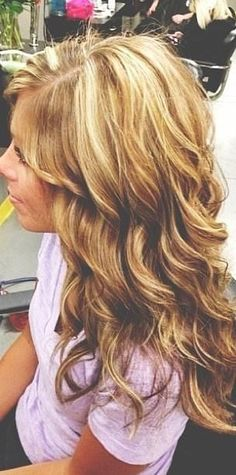 Love the layered wavy curls