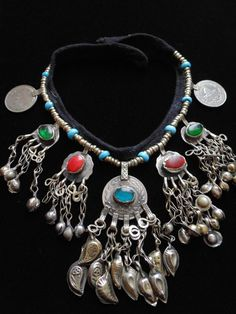 N4072  Vintage Tribal Kuchi Coin Necklace  by 7SISTERStradingco