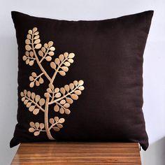 Coussins brun beige/couverture oreiller décoratif par KainKain