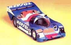 Porsche 962 Paper Car Free Vehicle Paper Model Download