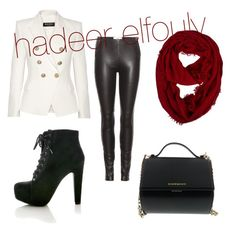 """""""Untitled #17"""" by hadeerelfouly on Polyvore featuring beauty, Balmain, Maison Margiela and Givenchy"""