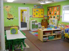 Home Daycare Layout Ideas Home Daycare Rooms, Toddler Daycare Rooms, Daycare Spaces, Childcare Rooms, Kids Daycare, Toddler Classroom, Daycare Ideas, Childcare Decor, Daycare Organization