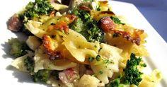 Těstoviny zapečené s brokolicí, smetanou a sýrem 500 g těstovin 700 g brokolice (1 menší hlávka) 150 g anglické slaniny (nemusí být)...