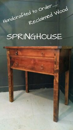 Beautifully Handcrafted from 200 yr. Old local Barns http:// springhousefurnishings.com