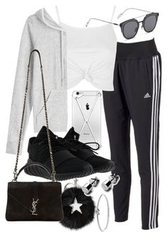 """""""Untitled #20836"""" by florencia95 ❤ liked on Polyvore featuring adidas, Topshop, Juicy Couture, STELLA McCARTNEY, GANT, Yves Saint Laurent and Michael Kors"""