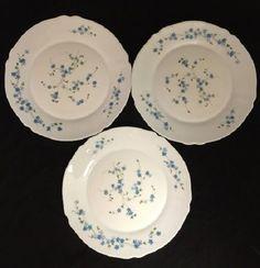 Arcopal Arc Veronica Blue Flower Floral No Trim Dinner Plate - SET OF 3 #Arcopal