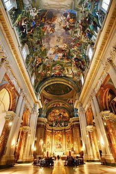 User Actions Follow Christian Images ‏@ChristianPics8 Interior of St. Ignatius Church in Rome.