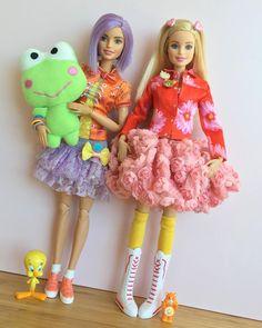 Kawaii!  #barbie #barbiestyle #barbiemadetomove #madetomovebarbie #barbiefashionista #barbiecollector #dollphotogallery #dolls #dollcollector #dollclothes #kawaiistyle #kawaiifashion #kawaii #harajukufashion #kerokerokeroppi #tweetybird #carebears