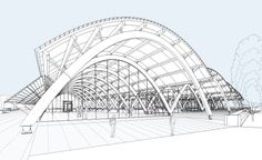 bodegas protos winery architects drawings - Google Search Shell Structure, Dome Structure, Steel Structure Buildings, Factory Architecture, Art And Architecture, Architecture Details, Hadid Architect, Architect Drawing, Halle