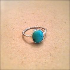 turquoise in sterling silver ring