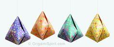 origami bell ornament - Google-søgning