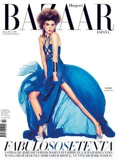 Harper's Bazaar Spain, blue dress