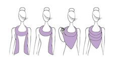 Different ways to use a scarf VII