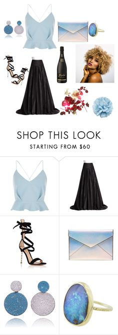 """""""Untitled #153"""" by sabii-dlii ❤ liked on Polyvore featuring River Island, Carolina Herrera, Gianvito Rossi, Rebecca Minkoff and Gucci"""