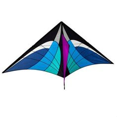 5.2ft High-Quality Blue Triangle Kite With Handle And Line