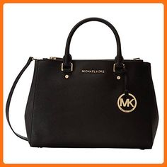 MICHAEL Michael Kors Black Sutton Medium Satchel - Satchels (*Amazon Partner-Link)