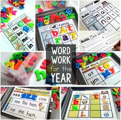 Kindergarten and First grade-- Word Work Centers with differentiated practice for the year.