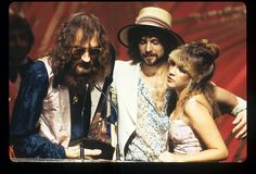 Fleetwood Mac at the American Music Awards accepting album of the year, Rumours in 1978