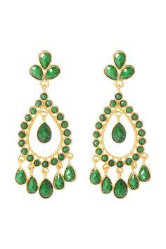Amrita Singh Flanders Earring In Evergreen - Beyond the Rack