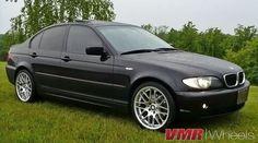 Black e46 sedan with 18 csl rims