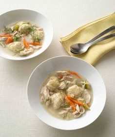 Use a rotisserie chicken in this classic soul-warming dish to speed up prep time.. Get the recipe for Chicken and Dumplings.