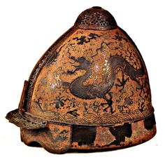 museum-of-artifacts:  Yuan Dynasty helmet, probably belonging to a high-ranking officer or general involved in the Mongol invasions of Japan in 1274. Invasion was unsuccessful due to typhoon which destroyed Mongolian fleet