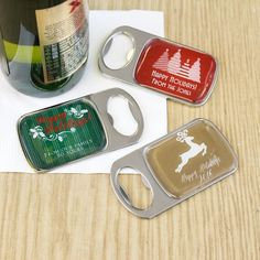 Personalized Holiday Bottle Openers with Epoxy Dome