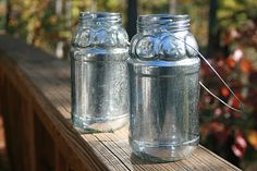 spray glass with water then use silver mirror paint and let dry  The Pinterest Project: A Mercury Little Christmas