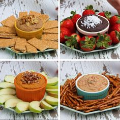 4 Delicious Dessert-Inspired Dips #hummus #chickpea #dips #party